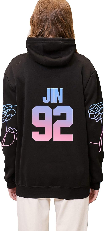 babyhealthy BTS Love Yourself Answer Sweatshirt Suga V Jung Kook Jimin Pullover Sweater Hoodie XS Black