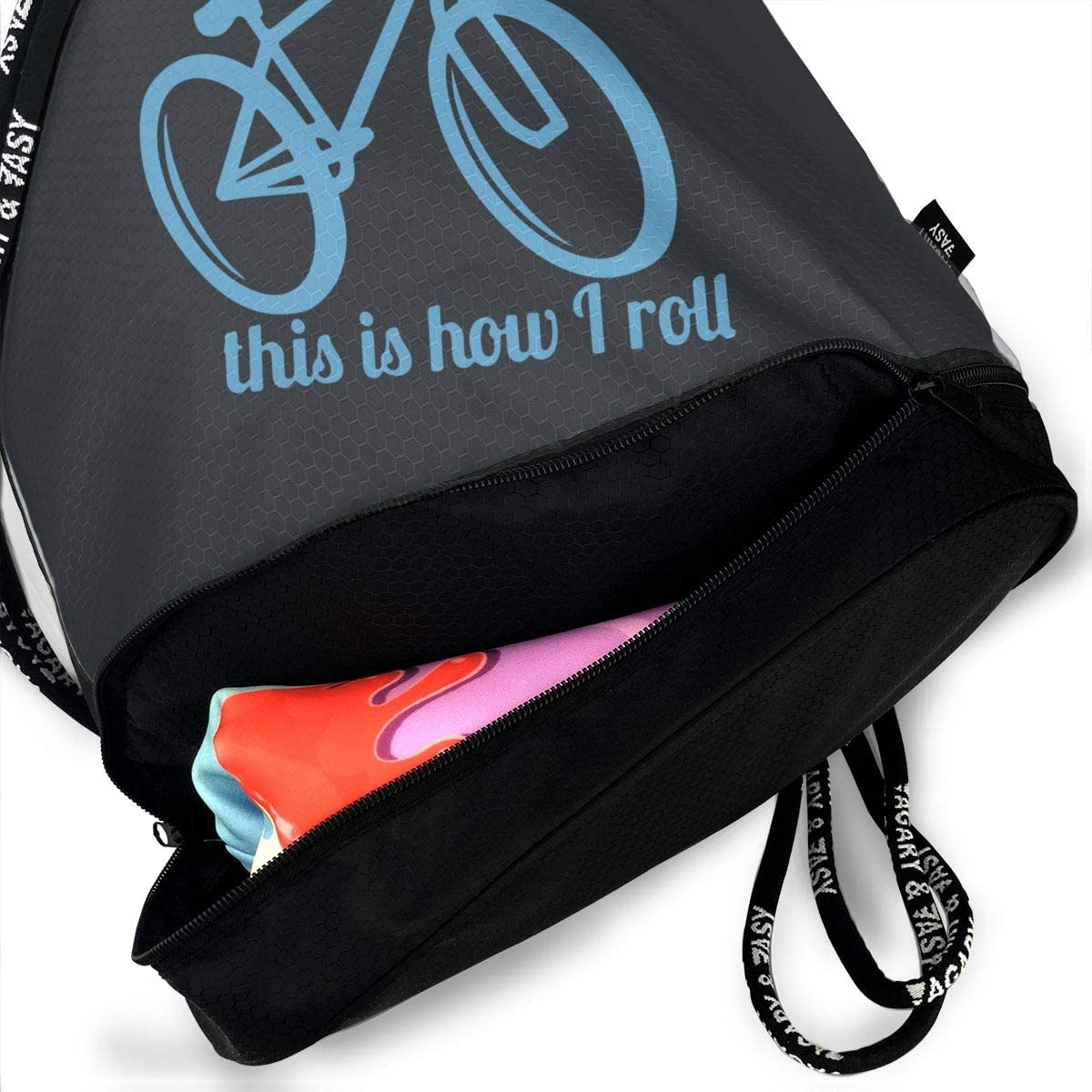 This Is How I Roll Men//Women Drawstring Pack Beam Mouth Yoga Sackpack Shoulder Bags