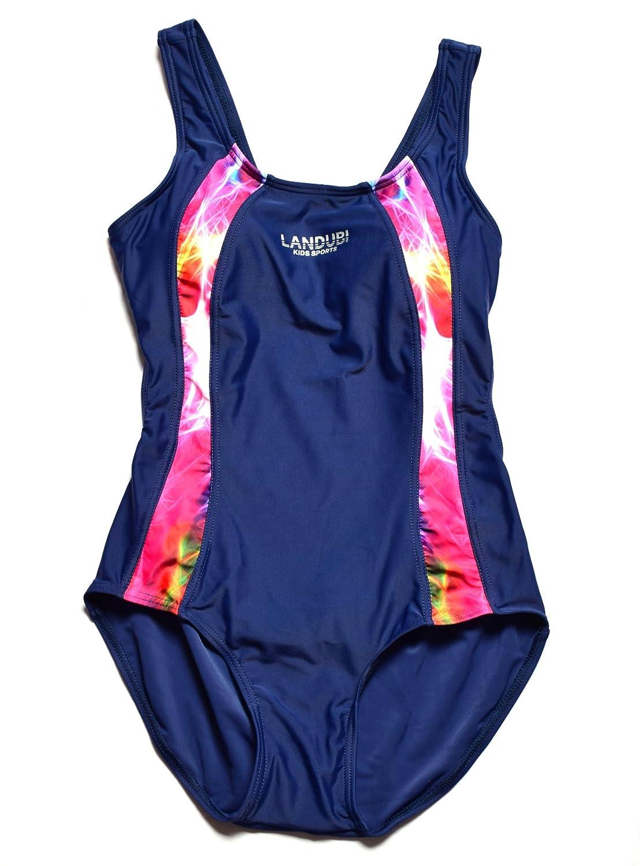 Bwiv costume da bagno intero ragazza multicolore costume da nuoto resistente al cloro per bambine 2-15 anni