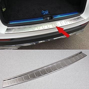 Steel Rear Bumper Sill Plate Guard Trim For Benz GLC43 GLC300 2016 2017 2018