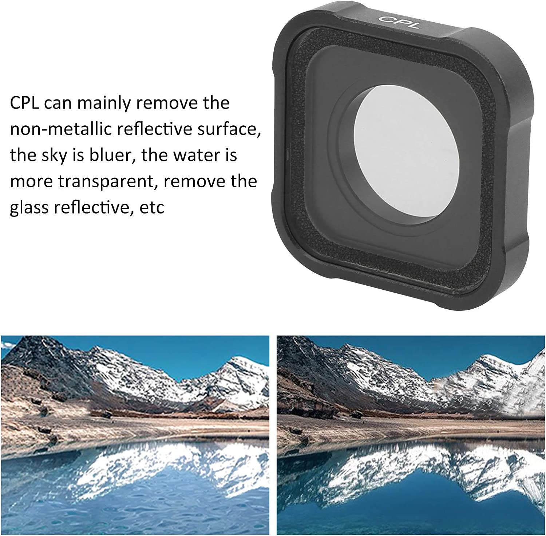 T opiky Juego de 3 filtros de Lente 3 en 1 CPL//ND8//ND16 C/ámara de acci/ón Filtro de Lente de Vidrio /óptico Cubierta de Lente reemplazable para GOPRO Hero 9