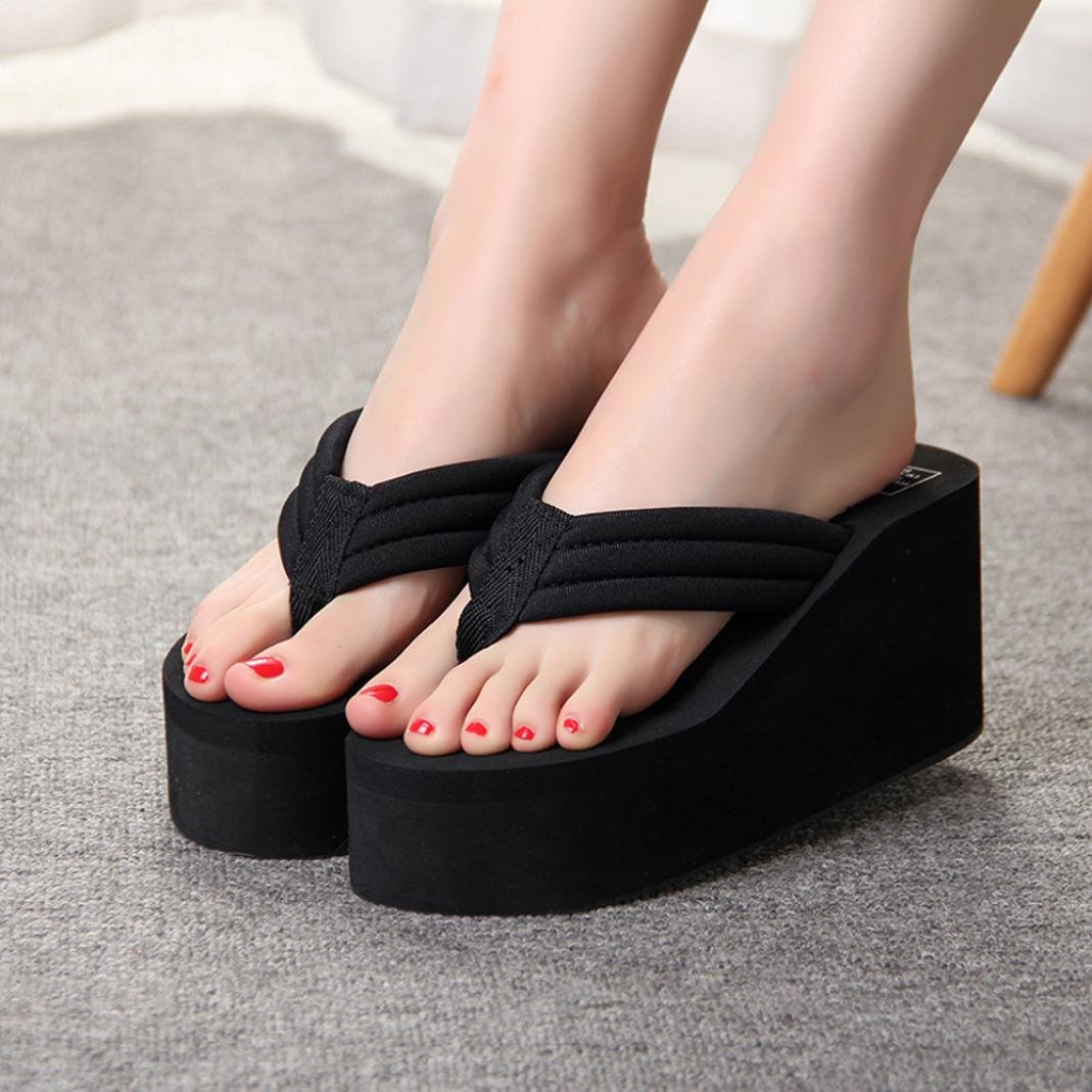 Billig 2018 frauen sandalen Plattform keil thick high heels