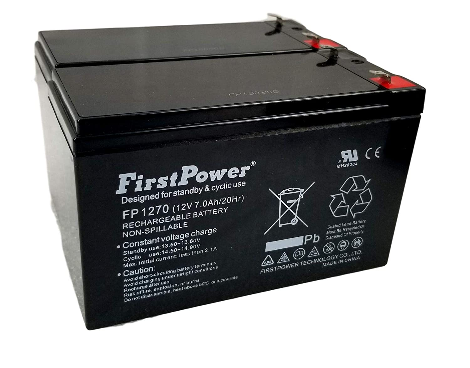 2 (Pack) 12v 7ah for UPS Battery Replaces 7ah Enduring CB7-12, CB-7-12