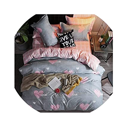 1b7796901a Amazon.com: Home Textile Comforter Cover Pillowcase Flat Sheet Girl Teen  Woman Bedding Set Bull Dog Pink Bed Linen Bedclothes,25,Twin 3Pcs,Flat Bed  Sheet: ...