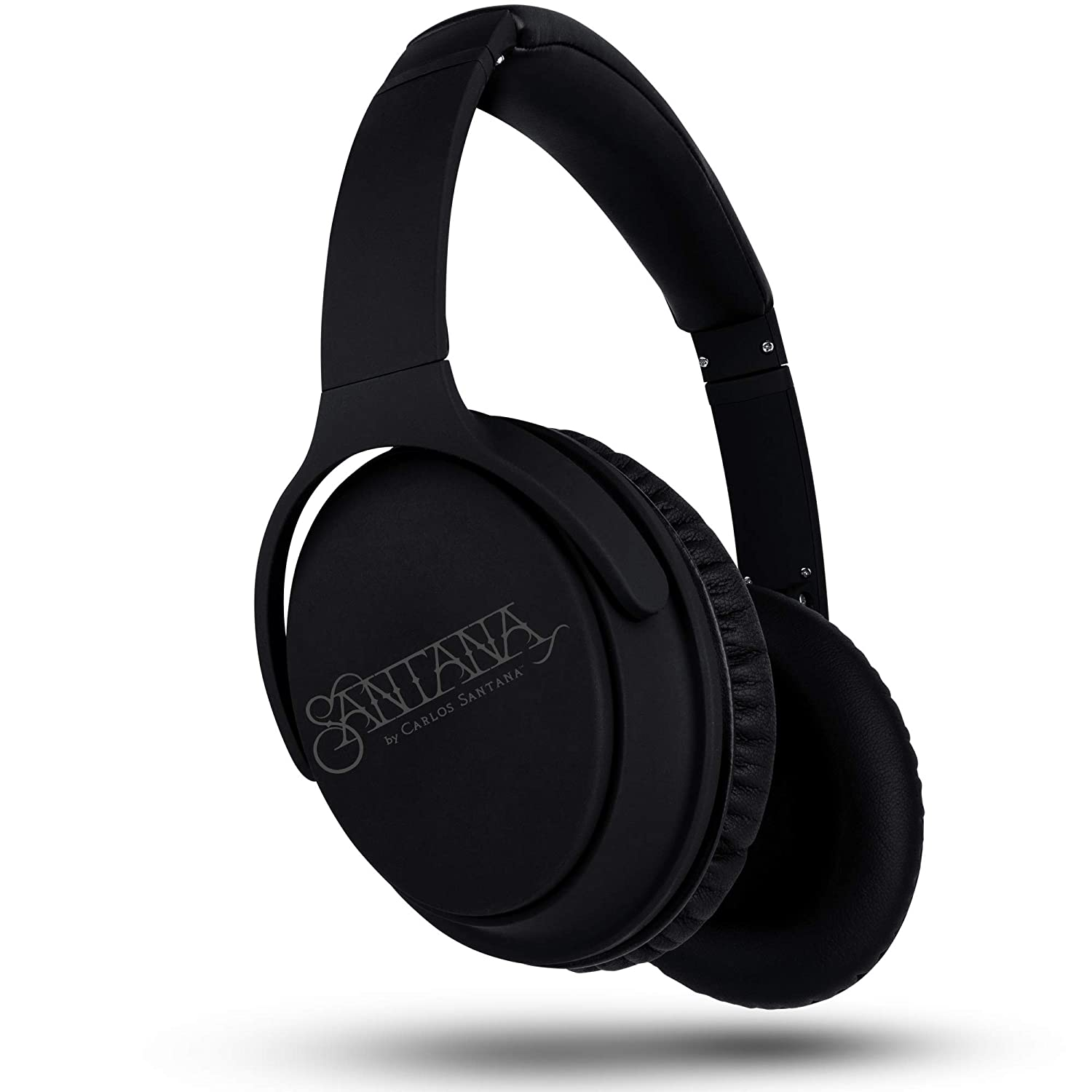 OYE by Carlos Santana Bluetooth Headphones Active Noise Cancelling Headphones Thundering Bass Integrated Microphone, Plush Protein Earpads, Travel/Work, Black