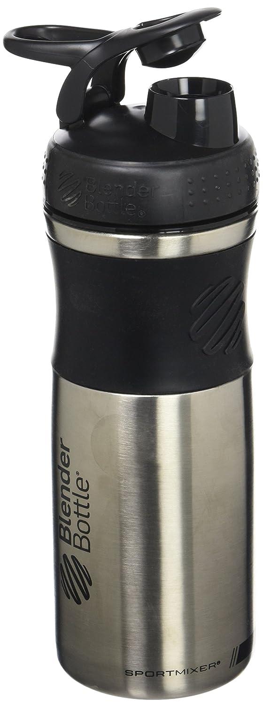 BlenderBottle Sportmixer Shaker in Acciaio Inox, Bottiglia per Acqua, Shaker per frullati di proteine, BlenderBall, 820 ml, Nero-Nero 500052