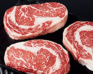 Kansas City Steaks 4 (8oz.) American Style Kobe Ribeye Steak