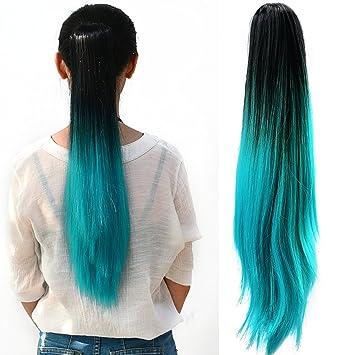 Neverland ladies women clip in hair extension two tone ponytail neverland ladies women clip in hair extension two tone ponytail dip dye ombre synthetic hair pmusecretfo Images