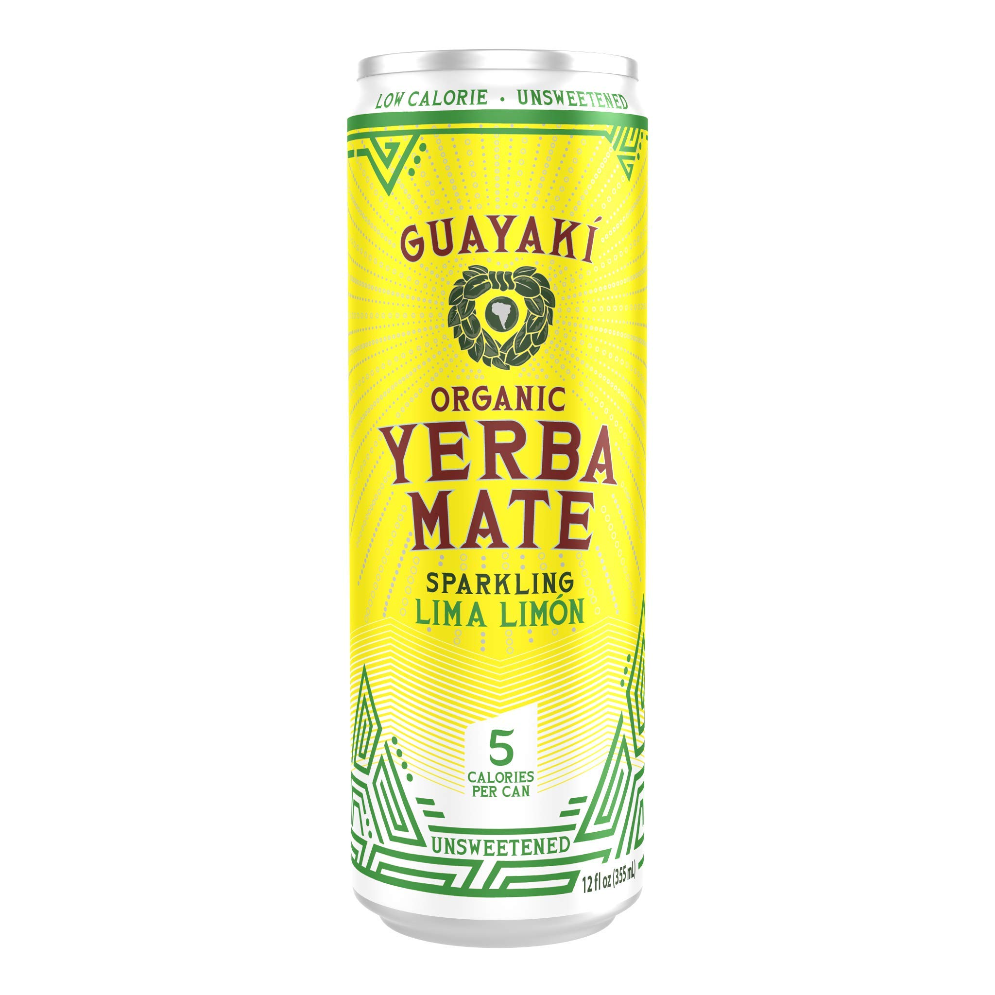 Guayaki Yerba Mate Sparkling Lima Limòn, 12-Ounce Can (Pack of 12)
