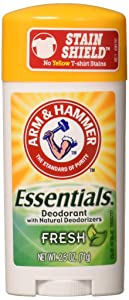 ARM & HAMMER Essentials Natural Deodorant Fresh 2.50 oz (Pack of 4)