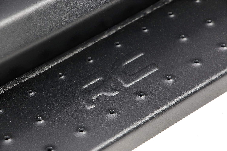 Side Steps Rock Sliders SDS071753 Rough Country DS2 Drop Nerf Steps Compatible w// 2007-2018 Jeep Wrangler JK 2DR
