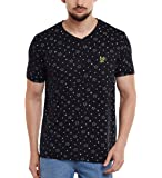 Vimal Men's Printed V Neck Cotton T-Shirt
