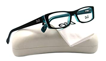 eb0c61fd9445 D&G DD1212 Eyeglasses-1870 Black Turquoise/White Turquoise-50mm ...