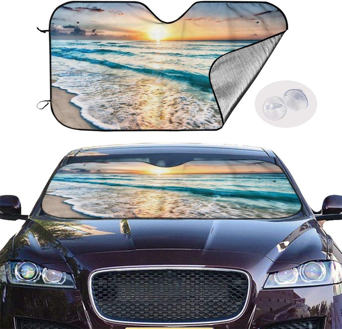 FATTTYCY 3D Realistic Dinosaur Car Windshield Sun Shade Sunshade for Car Truck SUV Block Uv Rays Universal Fit Vehicle Window Cover Visor Protector