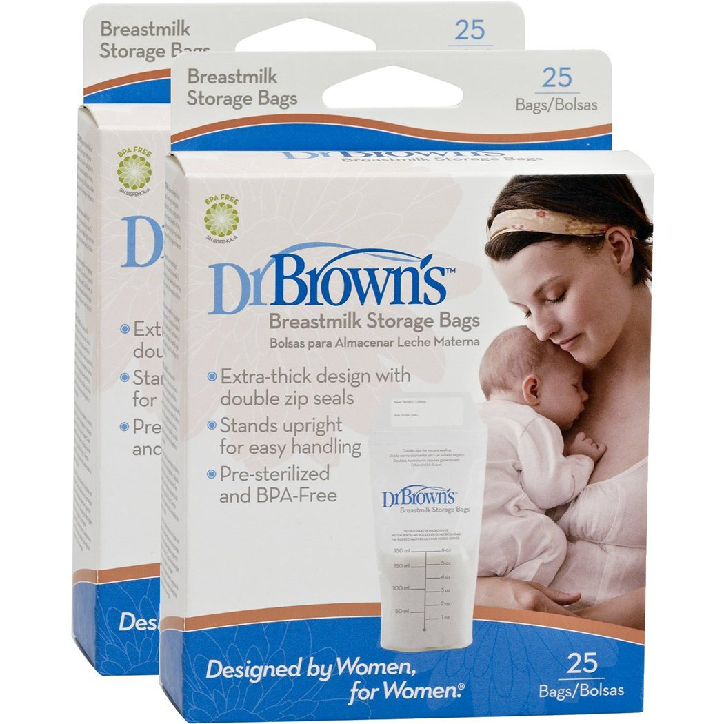 Dr. Brown's Breastmilk Storage Bags, 25 Count (Set of 2) Dr. Brown' s