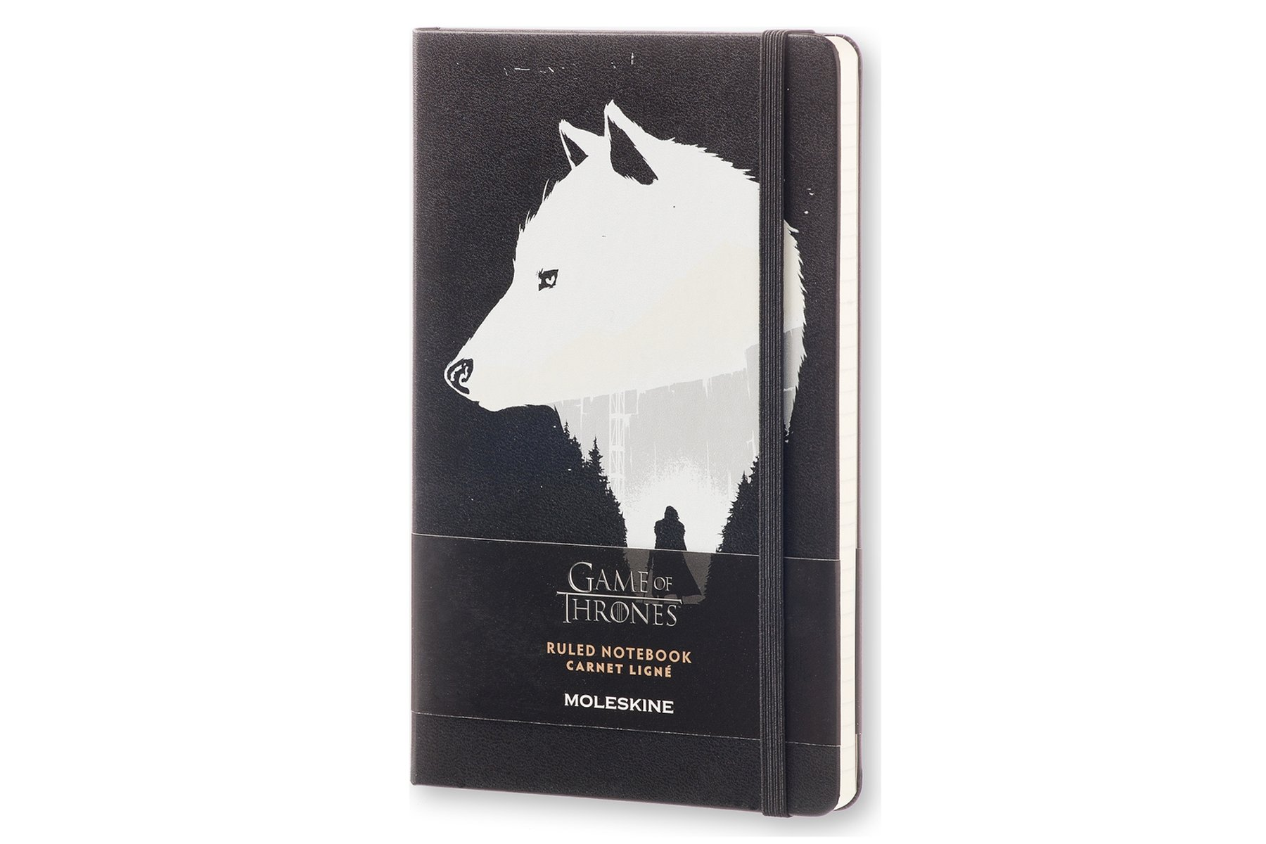 Moleskine Game of Thrones Limited Edition Notebook, Large, Ruled, Black, Hard Cover (8051272893090)