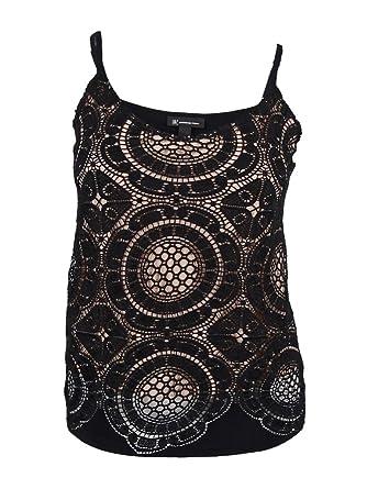 d4652b2794b9a INC International Concepts Women s Crochet Sleeveless Top (L