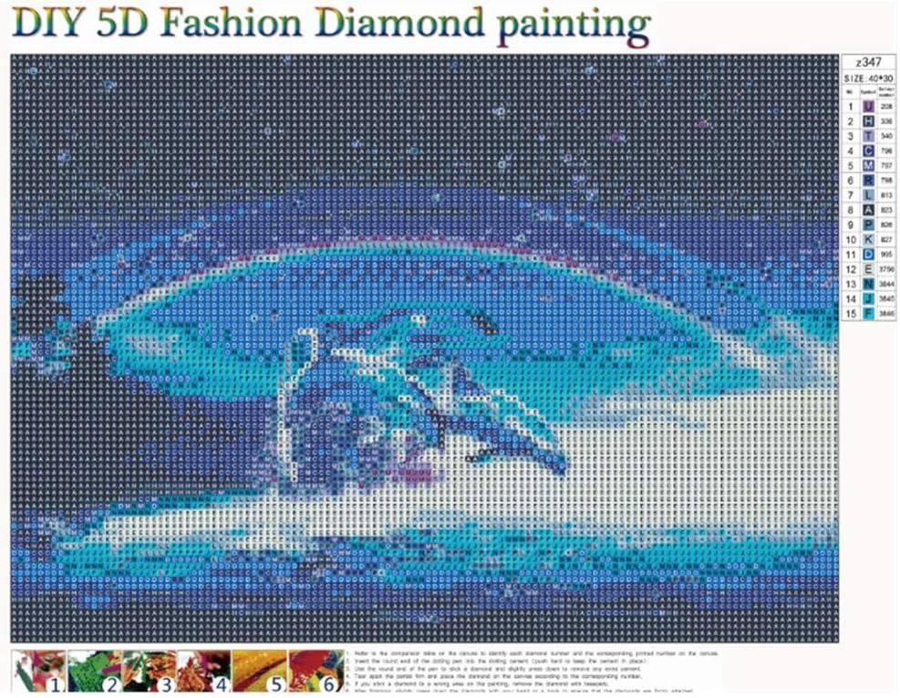 ❤️ Delphin Liebe Diamant Zeichnung DIY Stickerei Painting Kreuz Stich Diamond Dekoration sunnymi 5D Diamant Full Malerei Delphin Liebe, 30x40cm
