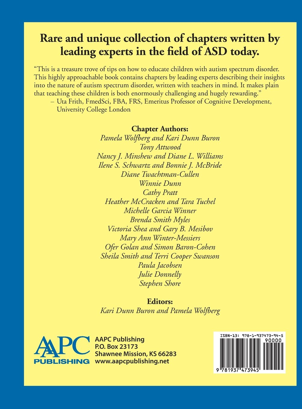 Preparing Highly Qualified Educators And Related Practitioners: Kari  Dunn Buron, Pamela Wolfberg, Aapc Publishing: 9781937473945: Amazon:  Books