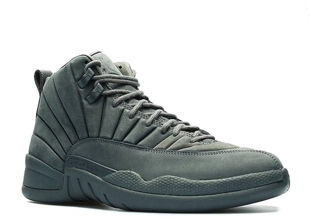 Amazon.com | NIKE Mens Public School x Air Jordan 12 Retro Dark Grey/Black  Suede | Basketball