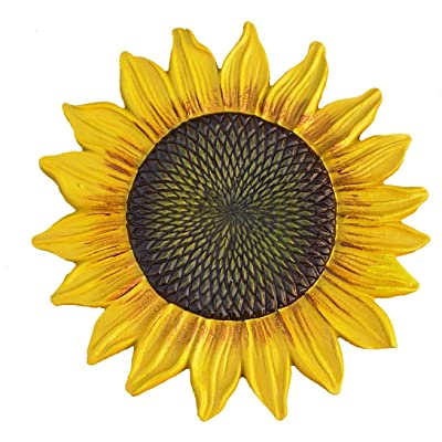 Oakland Living 5993-YL Sunflower Stepping Stone, Yellow : Outdoor Decorative Stones : Garden & Outdoor