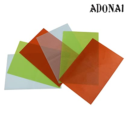 ADONAI Waterproof Anti Slip Refrigerator Drawer Mat (Multicolour, 45 Cms) -Set of 6 Pieces