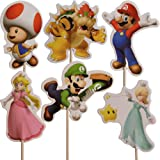 Super Mario Cupcake Pick Toppers (Pack of 24)