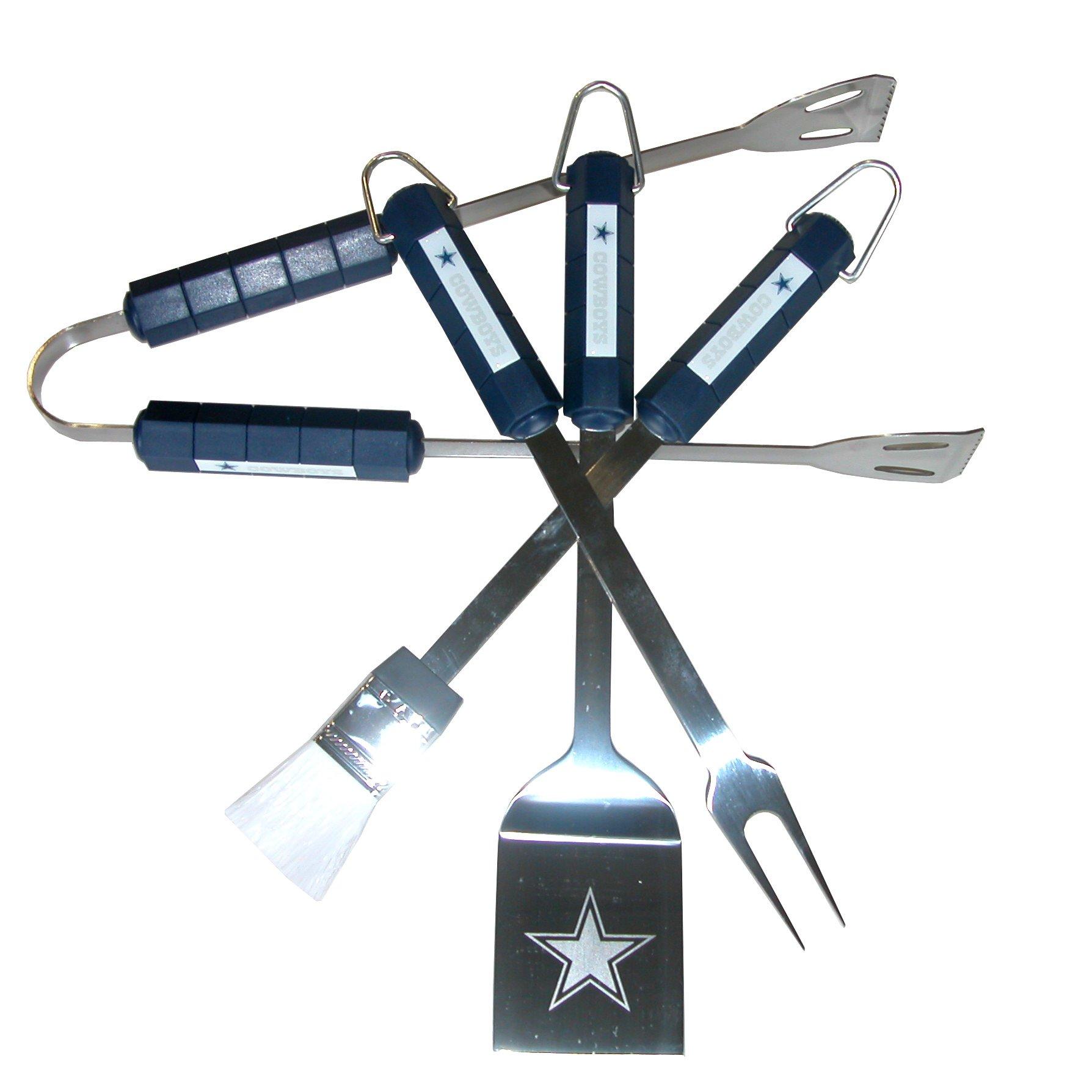 NFL Dallas Cowboys 4-Piece Barbecue Set