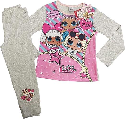 LOL Surprise - Pijama - para niña Gris Gris 110 cm/4-5 años ...
