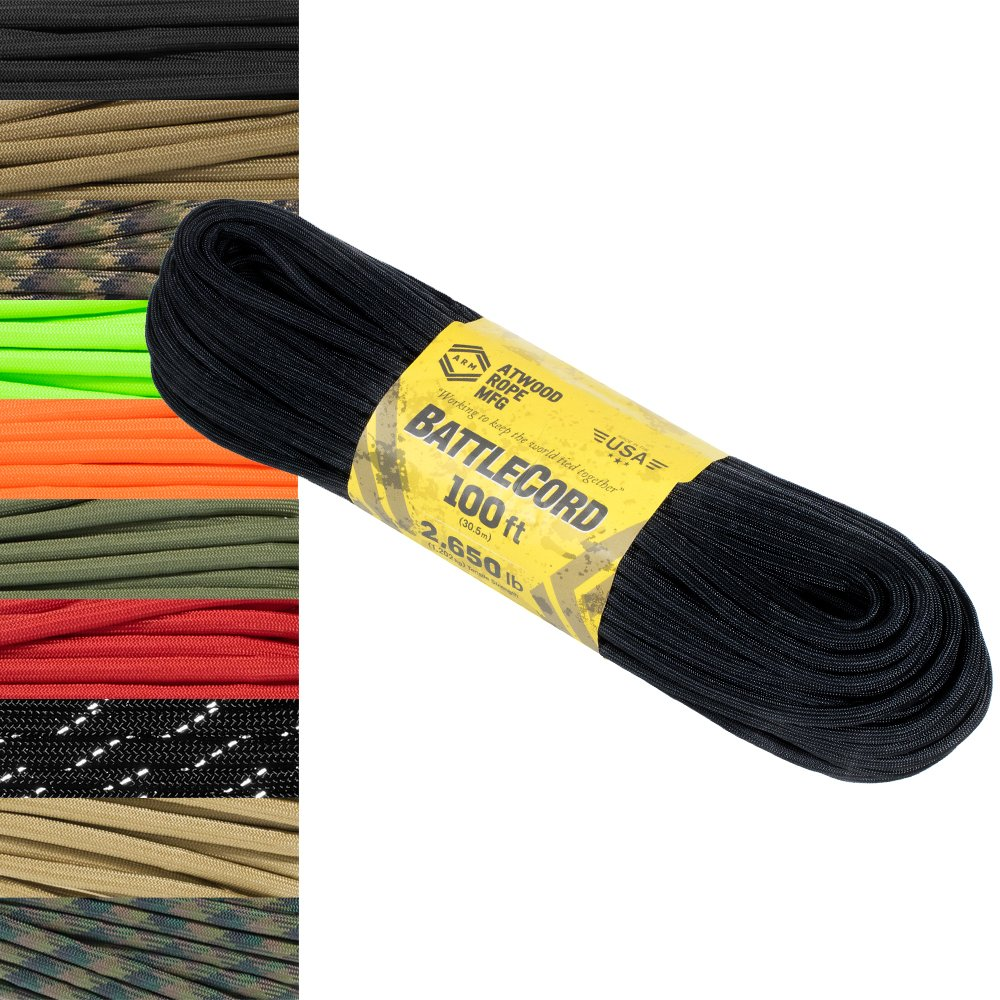 Paracord Planet 5.6 MM BattleCord – Ultra Strong &タフロープ – 2650lb引張強度 – USA製 B07BK84298 レッド 100 Feet 100 Feet|レッド