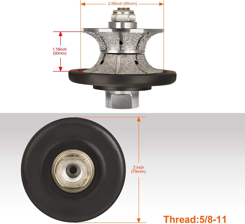 "STADEA Diamond Granite Profile Wheel Full Bullnose 1/"" V25 Marble Stone Profiling"