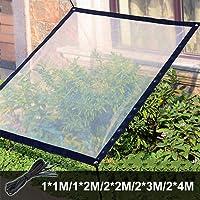 KOET - Lona de jardín impermeable transparente con ojales y cordón, resistente a la congelación/anti rayos UV y…