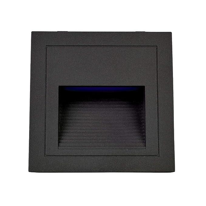 arotelicht led step light (warm white, 4pcsset, black cover