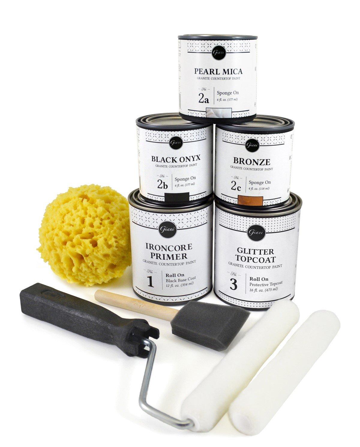 Amazon Com Giani Countertop Paint Kit Bombay Black Home Improvement