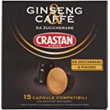 Crastan Capsule Compatibili Nespresso - Ginseng & Caffè da Zuccherare - 6 confezioni da 15 capsule [tot. 90 capsule]