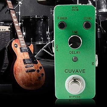 Sguan-wu Pedal de efecto de guitarra de retardo clásico Grabar bypass Accesorios para instrumentos musicales - Verde: Amazon.es: Instrumentos musicales