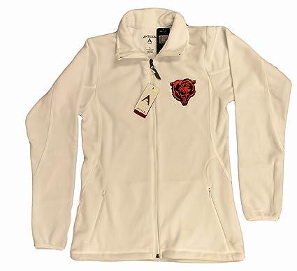 e9e460d56dc Antigua Chicago Bears NFL Women s White Ice Fleece Full Zip Jacket (2XLarge)
