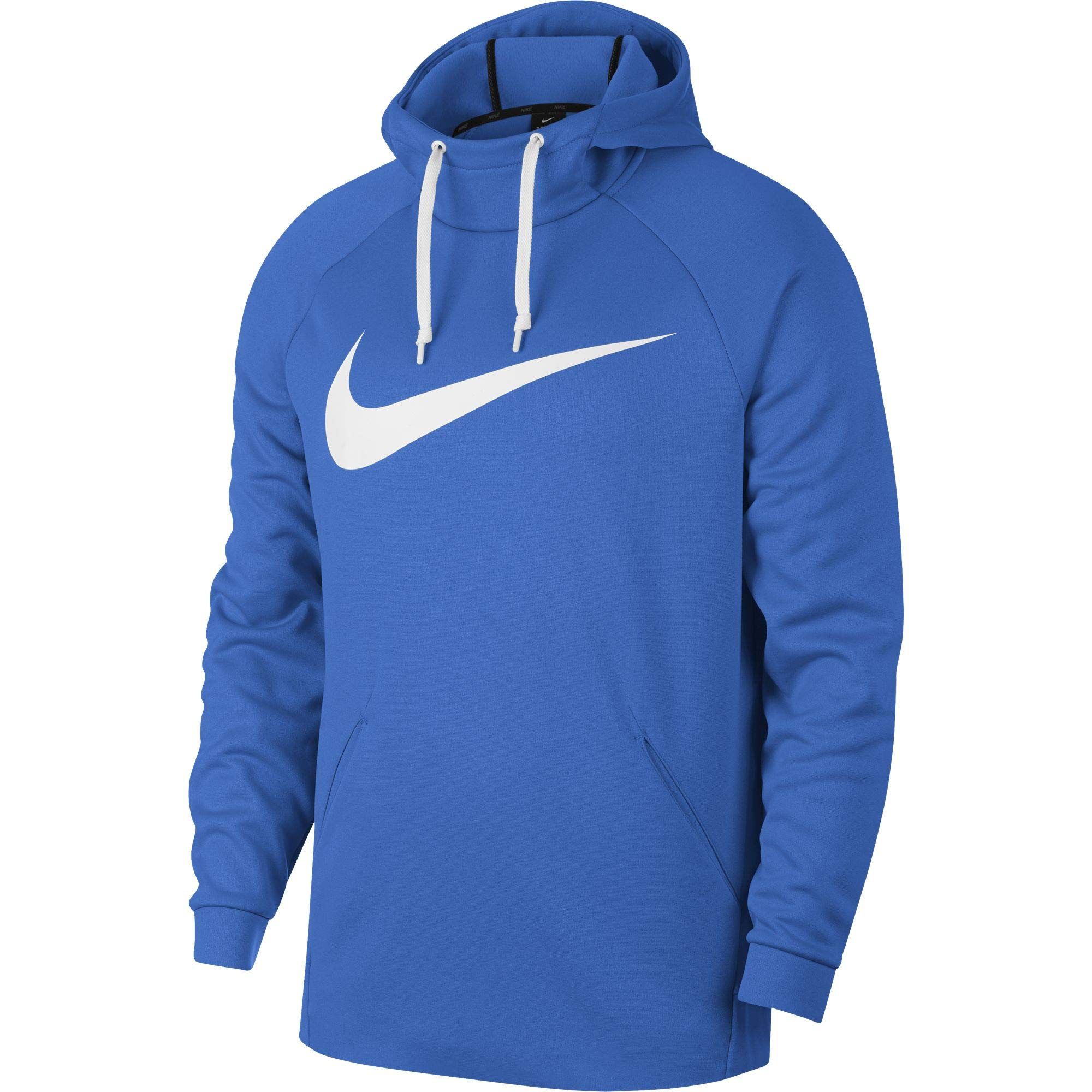 Nike Men's Therma Swoosh Training Hoodie Signal Blue/White Size Small