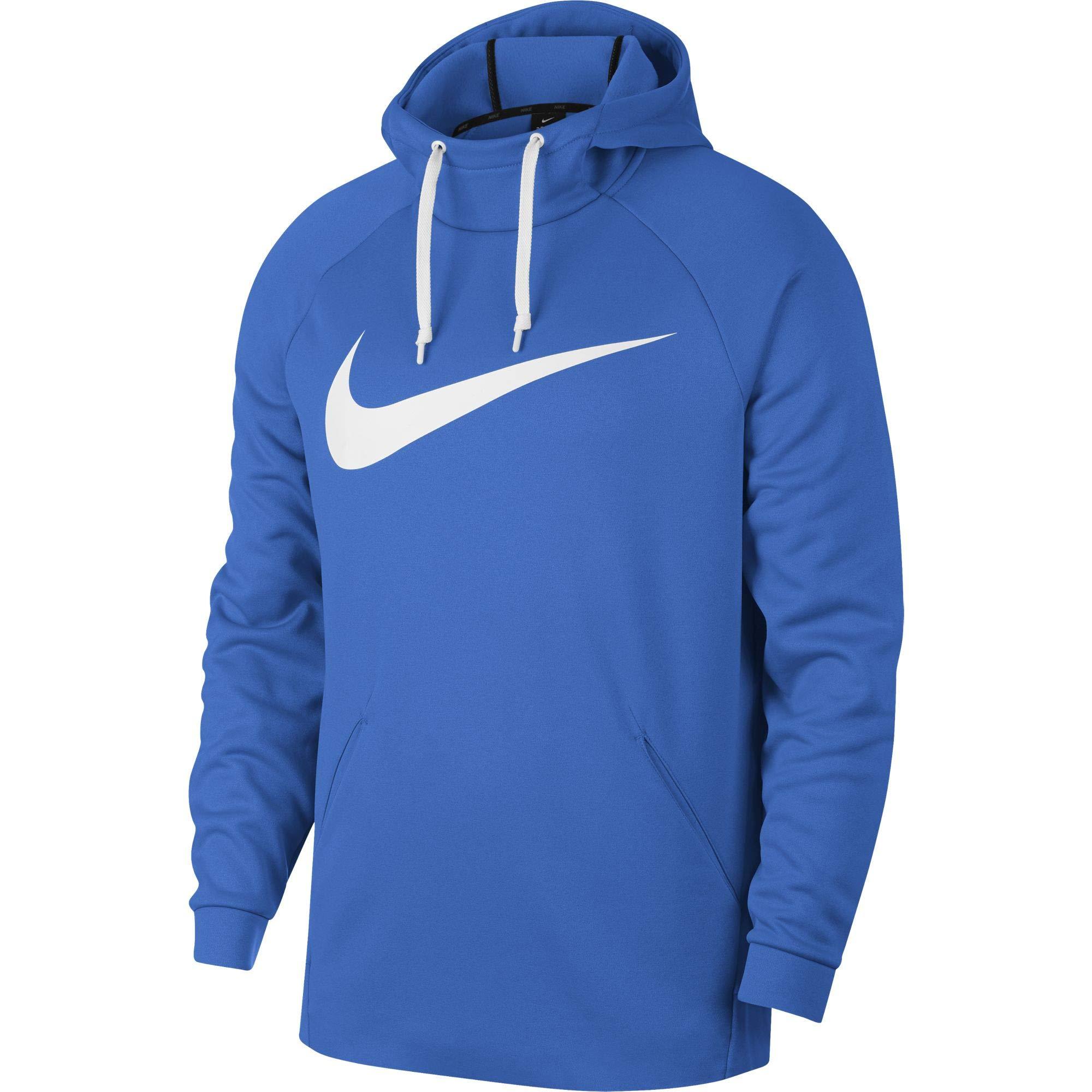 Nike Men's Therma Swoosh Training Hoodie Signal Blue/White Size Medium