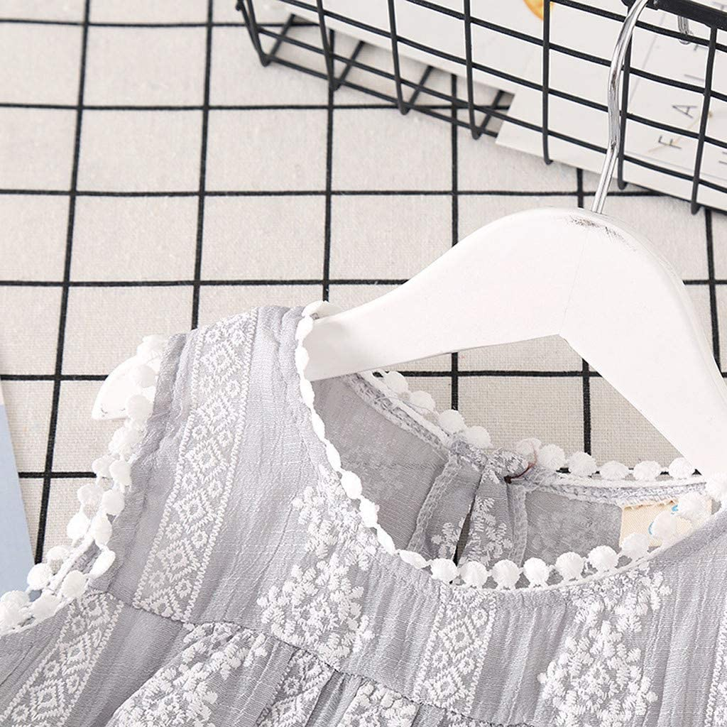Alonea Princess Sleeveless Toddler Baby Kids Girls Solid Lace Patchwork Tops Vest Casual Clothes