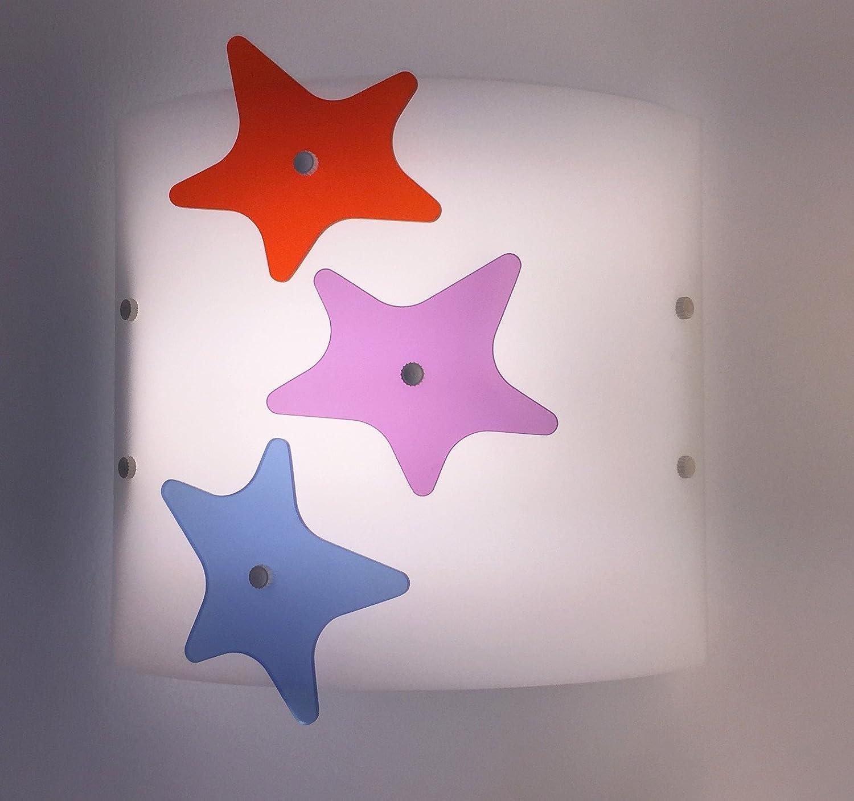 Aplique de lámpara de pared decorado con estrellas para habitación infantil ART PLEX 1622STELLINE