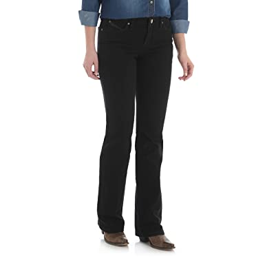 b2cc645f274 Wrangler Women s Q-Baby Mid Rise Boot Cut Ultimate Riding Jean at ...