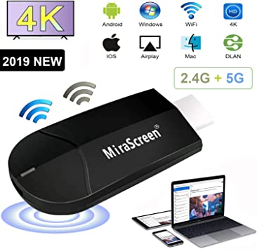 WiFi Display Dongle, 2.4G + 5G Computadora Telefono Movil 4K HD ...