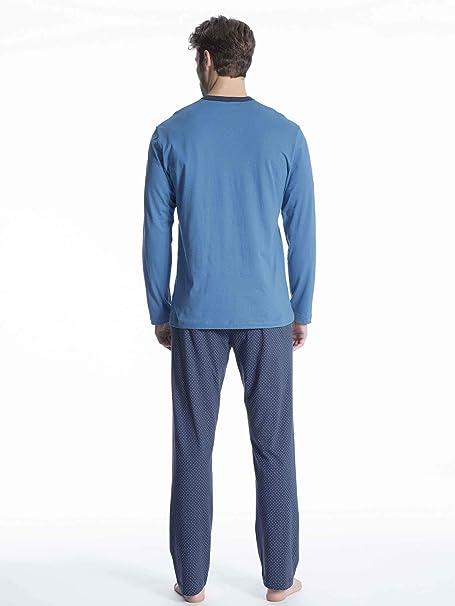 6e8031f794 Calida Relax Imprint 1 Pyjama lang Herren: Amazon.de: Bekleidung