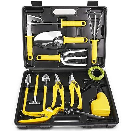 Amazon.com: MOSFiATA Juego de herramientas de jardín, 14 ...