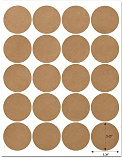 Amazon 40 printable blank mason jar and lid labels kraft for textured brown kraft 2 inch diameter circle labels with template and printing instructions 5 sheets maxwellsz