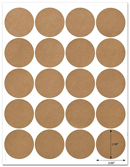 Amazon Com Textured Brown Kraft 2 Inch Diameter Circle Labels With