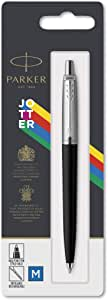 Parker Jotter Originals Ballpoint Pen, Classic Black Finish, Medium Point, Blue Ink, 1 Count