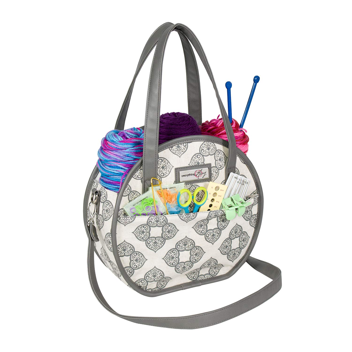 Everything Mary Rounded Knitting Tote
