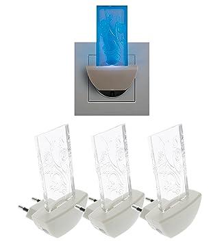Trango 3er Pack LED Steckerlicht TG11 S40 Wandlampe